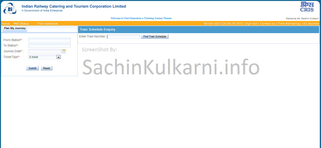 IRCTC New UI-Find By Trian Number
