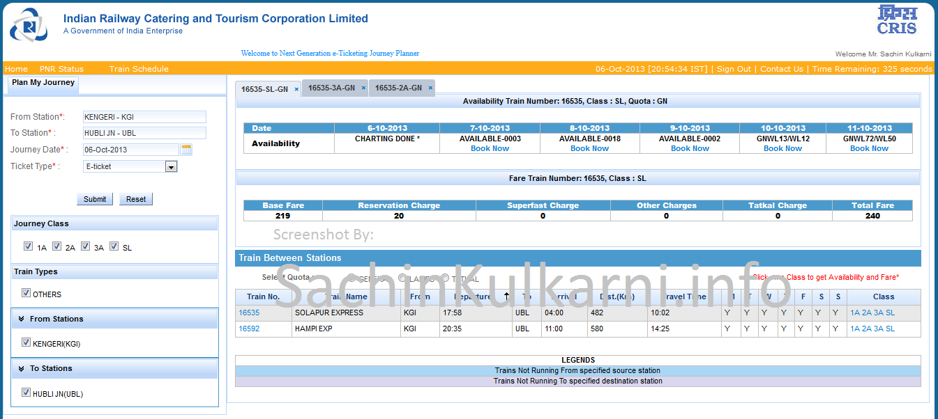 IRCTC New UI-Plan My Journey