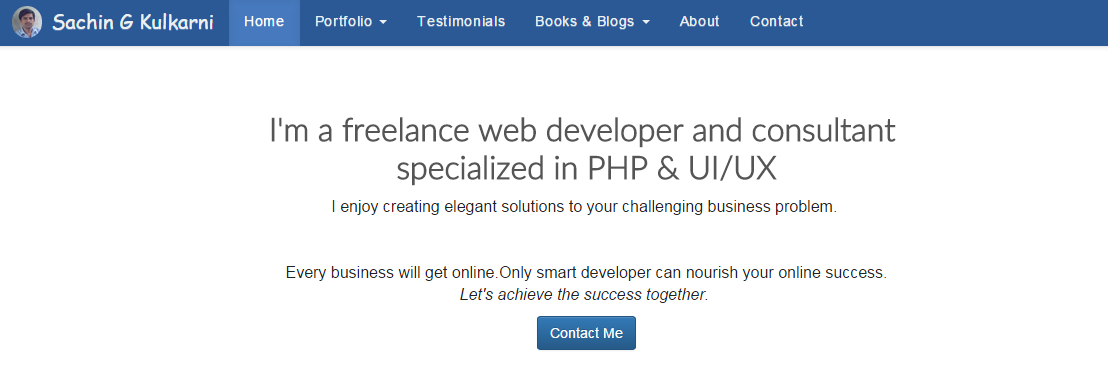 Freelance Web Developer Home Page
